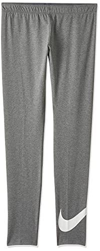 Nike Mädchen Sportswear Favorites Leggings, Carbon Heather/White, M