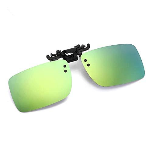 NJJX Gafas De Conductor De Coche Gafas De Sol Polarizadas Anti-Uva Gafas De Sol De Conducción De Visión Nocturna Clip En Gafas De Sol Accesorios Interiores D