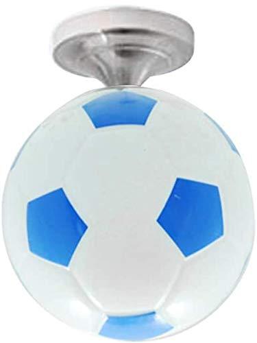 Lelesta - Lampadario a sospensione a forma di pallone da calcio, E27 (Blu)
