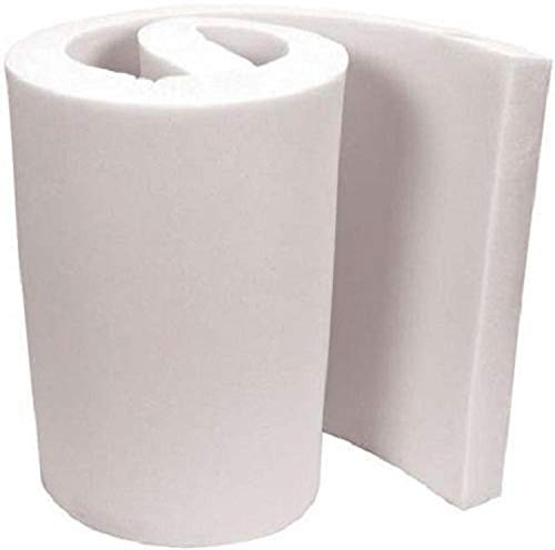 "FoamTouch Upholstery Foam Cushion High Density 2"" Height x 18"" Width x 18"" Length Made in USA"