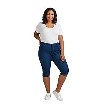 Zizzi Damen Capri Jeans 3/4 Caprihose Slim Fit Mit Stretch