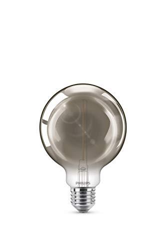 Philips - Bombilla LED cristal 11W Globo E27 ahumada , no regulable
