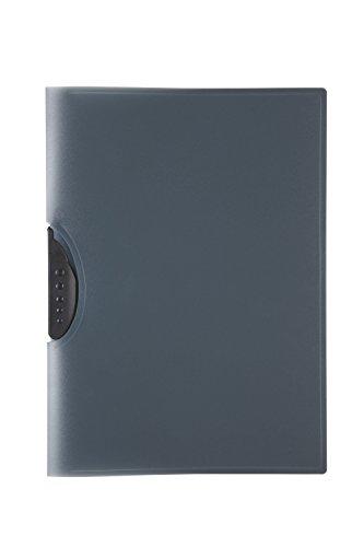 Idena 300554 - Clip Mappe für DIN A4 aus Polypropylen, transluzent schwarz, 1 Stück