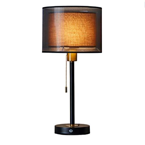 Lámpara de Mesa Estudio dormitorio moderno Tabla china lámpara de hierro forjado...