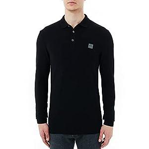 BOSS Herren Passerby Longsleeve-Poloshirt aus elastischem Baumwoll-Piqué