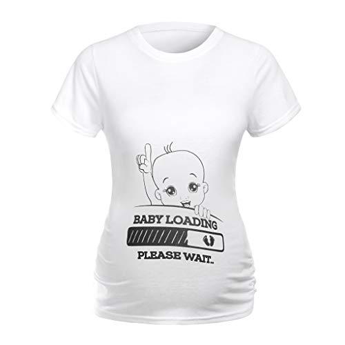 Allence Schwangerschaftsshirt Lustige Witzige SüßE Umstandsmode Sweatshirt Umstandsshirt Mit Motiv FüR Die Schwangerschaft Kurzarm