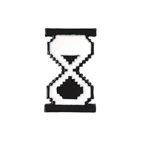 Teclado de computadora creativo esmalte broche ratón flecha herramienta reloj de arena aleación insignia Pin joyería regalo para amigos