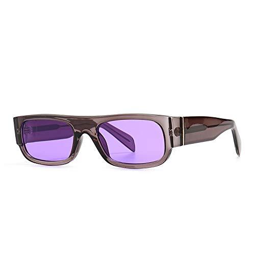 Gafas De Sol De Moda Unisex Gafas De Sol Rectangulares Vintage para Mujer, Gafas De Sol Retro Punk para Hombre, Gafas Cuadradas Steampunk 4 para Mujer