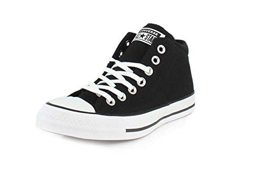 Converse Women's Chuck Taylor All Star Madison Mid Top Sneaker, Black/Black/White, 10 M US