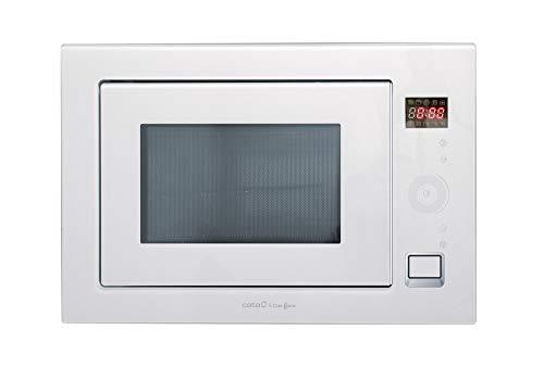 Cata WH Integrable | Modelo MC 25 GTC| Con capacidad de 25 Litros | Cinco Niveles de Potencia | Microondas con grill simultáneo de Cuarzo 1100 W | Ancho de 60 cm | Color Negro, 900, Acero