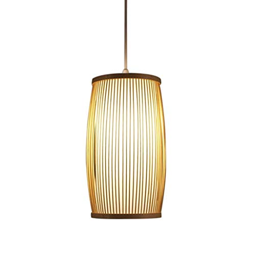 Fijne Aziatisch-levende plafondverlichting hanglamp hanglampen bamboe lampenkap opknoping licht kroonluchter handgemaakte verlichting slaapkamer woonkamer armatuur bamboe oosterse Aziatische licht 224-114