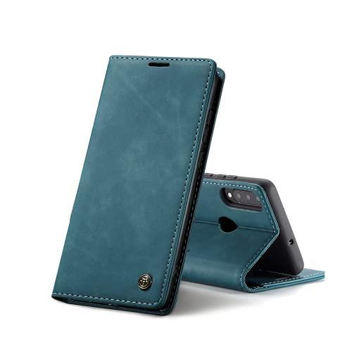 Chocoyi Compatible Funda Huawei P30 Lite Flip Leather Edition,magnético, función de Soporte y Ranuras para Tarjetas-Azul