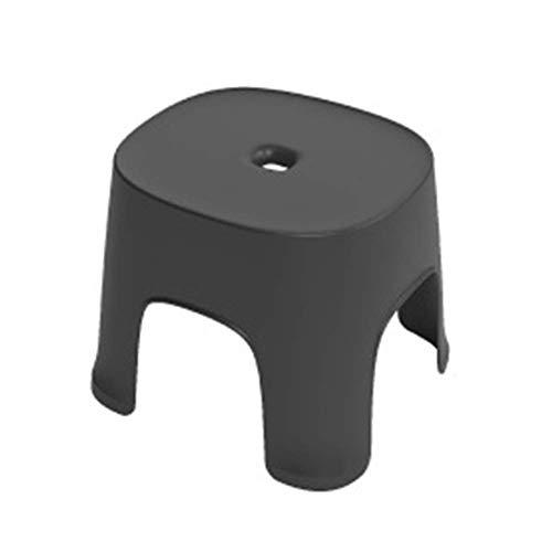 LAMEIDA Tritthocker Kinder Kunststoffhocker Stapelbarer runder Fußhocker Pure Color Kleiner Hocker für Kinder Erwachsene Küche Garten Badezimmer Tritthocker (Schwarz)