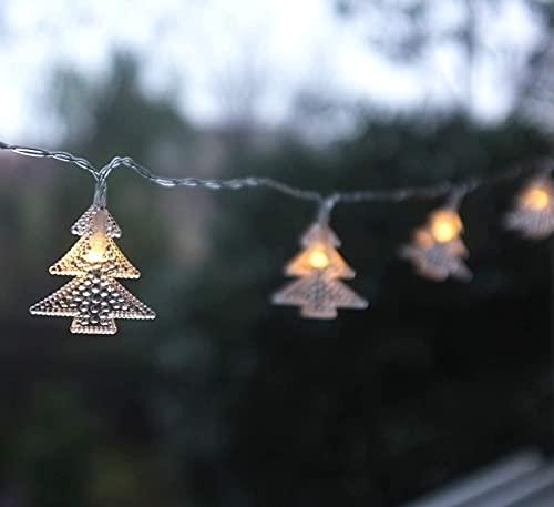 Kansang Guirnalda de luces - Funciona con pilas, luces LED decorativas, se pueden utilizar en interiores y exteriores (árbol de Navidad transparente)