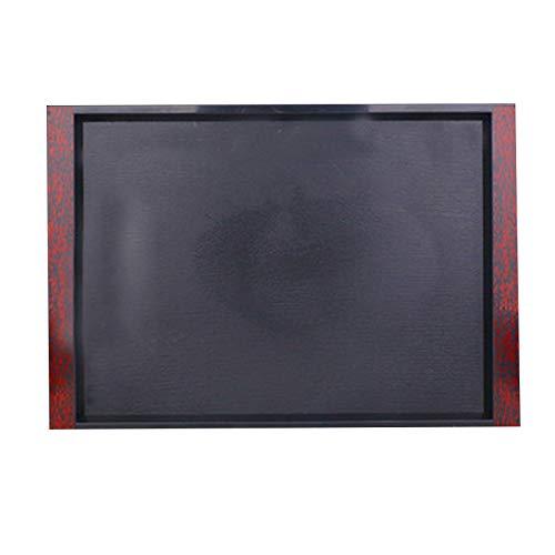 Maxte - Bandeja rectangular de plástico para servir alimentos, antideslizante, resistente a los arañazos