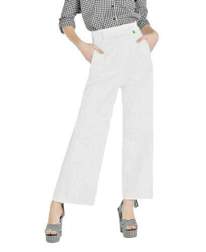 Pantalone a Palazzo Donna My Twin Twinset Vita Alta Cropped Bianco JS82Z6 (30)