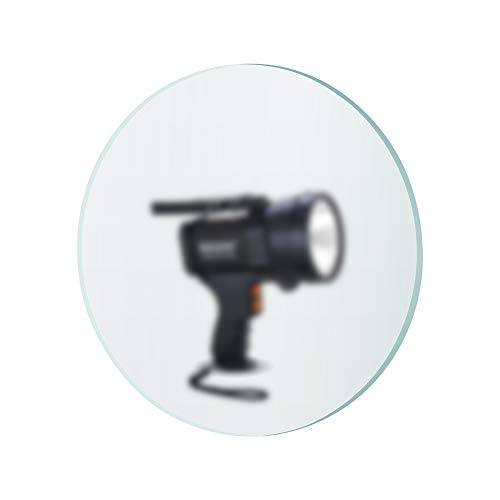 BIGSUN 2-Pack Glass Lens for Spotlight Universal, Lens Size 96mm2.6mm, Suitable for 10.04 cm diameter Spotlight Flashlight Cap