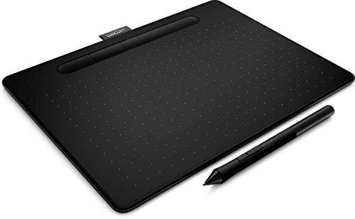 Wacom Intuos M Tavoletta Bluetooth Nera con Penna - Tavoletta Grafica Wireless per dipingere, disegnare ed editare foto con 3 software creativi inclusi da scaricare *, compatibile con Windows & Mac