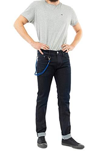 Replay Herren Titanium Stretch Slim Fit Jeans Hose Gr. 32W Large, Dunkelblau 007