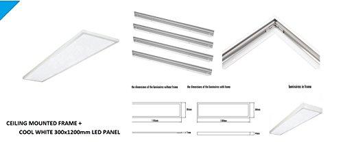 Spectrum Ultra lim Office LED Integra 46W LED 300X1200mm Panel + marco montado en superficie (blanco frío)
