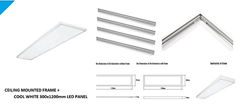 Spectrum Ultra lim Office LED Integra 46W LED 300X1200mm Panel + marco montado en superficie (blanco frío)