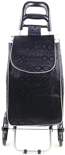 gengxinxin Klappbar Einkaufstrolleys Verstellbarer Griff Einkaufstrolley Einkaufskörbe Einkaufswagen Klettergerüst Klappboden Älterer Tragbarer Wagen Wagen Home Food 91 * 43 * 25cm-b