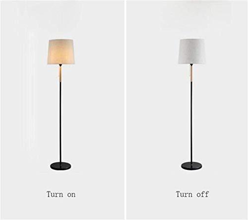 L-WSWS De pie luminarias de Madera nórdica Creativo de la Manera Minimalista Moderna lámpara de pie, Estudio Dormitorio de pie luminarias for Sala de Estar Sofá Cama Lámpara de pie Incluye Bombilla