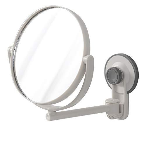 Wandbehang Kosmetikspiegel/Home Schminkspiegel mit Saugnapf Doppelseitig Duschspiegel Freier Schlag Rasierspiegel Einfache Installation für Bad oder Waschraum 17 x 17.5 cm