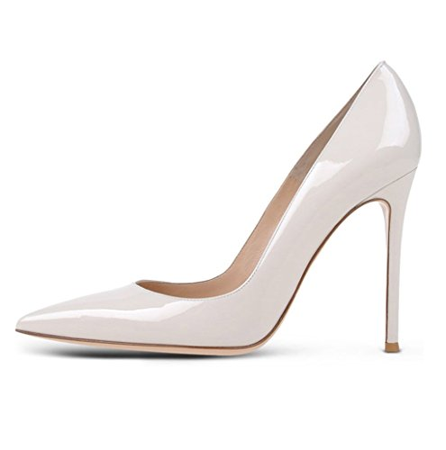 EDEFS Damen Pumps | Spitze Stiletto High Heels | Moderne Pumps White Größe EU37