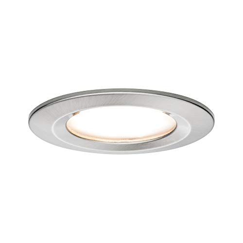 Paulmann 93859 Einbauleuchte LED Coin flache Einbaustrahler Slim Deckenspot rund 6,8W Eisen Einbaulicht IP44 spritzwassergeschützt