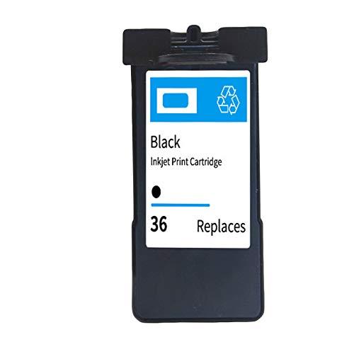 Cartuchos de tinta 36 37, cartucho de reemplazo de alto rendimiento para lexmark x3650 x4650 x5650 x6650 x6675 Cartuchos de impresora de inyección de tinta negro y c Black