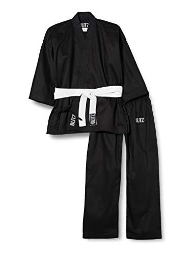 Blitz Sport Student Traje de Karate, Unisex Adulto, Negro, 1/140 cm