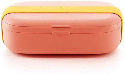 DLMSDG Box Mini Caja para almuerzos sellada, crujiente Simple, Recipiente de plástico Reutilizable para Almacenamiento de Alimentos con Tapa, Caja de Almacenamiento de Cocina para