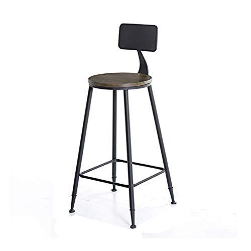 Fer forgé haut vin Tabouret assis autour surface en bois massif avec style industriel Dossier/Spécifications 44x44x105cm (Color : C)