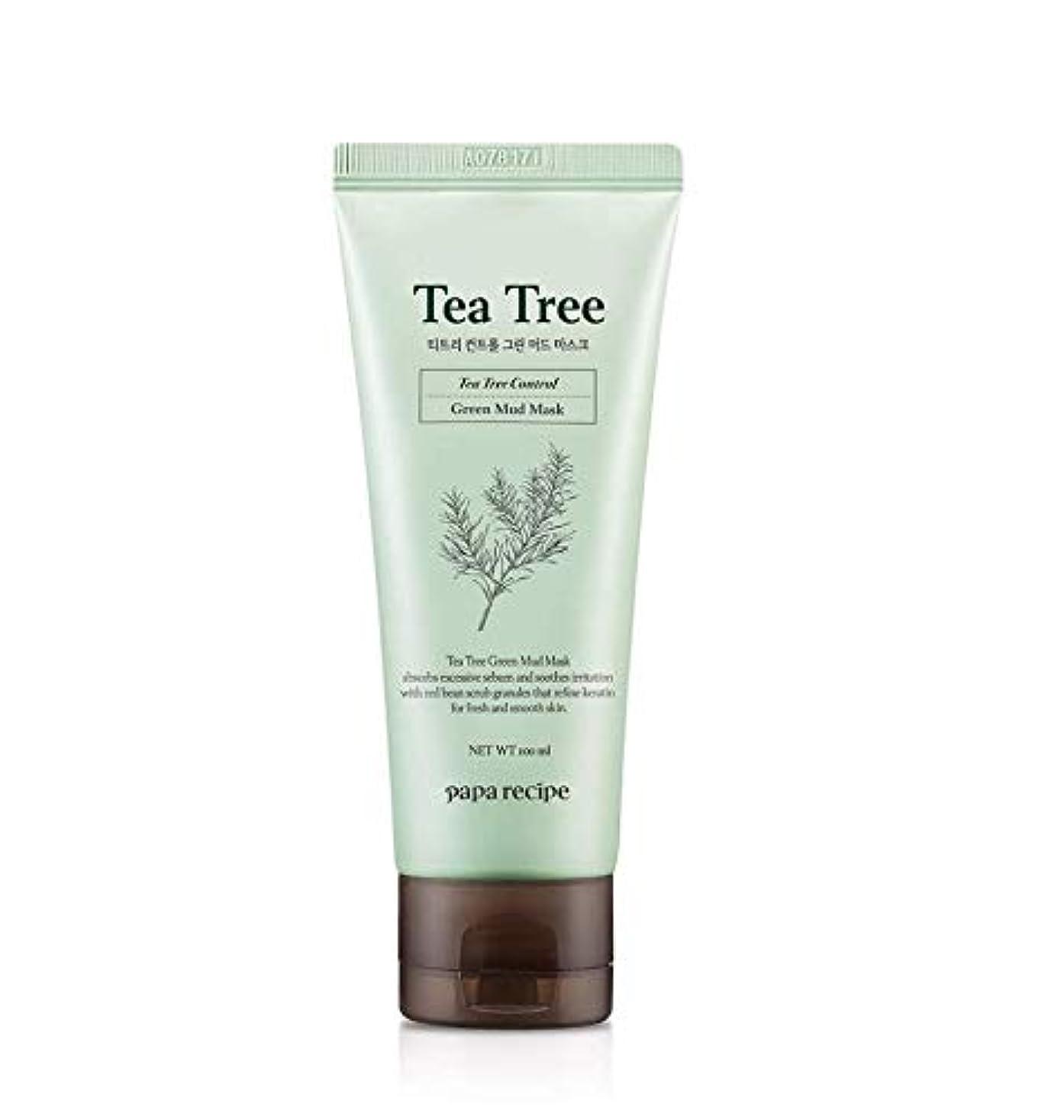 強化邪悪な謝罪するPaparecipe (パパレシピ) ティーツリー コントロール グリーン マッド マスク/Tea Tree Control Green Mud Mask (100ml) [並行輸入品]