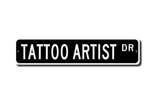 LHZJ Fashionable Tattoo Artist Gift Tattoo Artist Sign Ink Memory Artist Ink Body Creations Street Sign 4X16 inchs Metal tin Sign