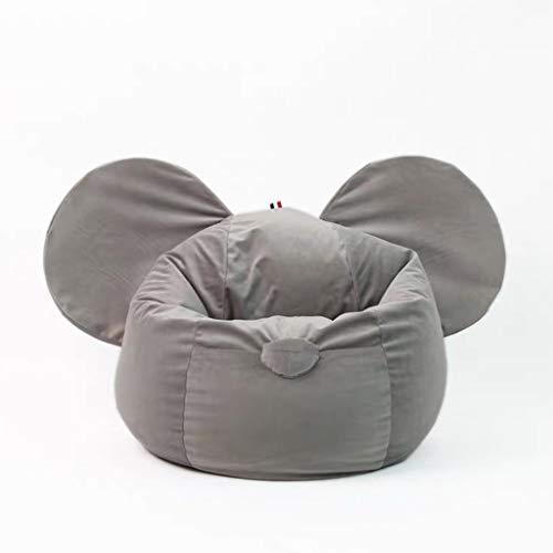 JIY Tatami Mini Sitzsack Faule Sofa Kinderleseecke Sitzeinzel kleines Sofa abnehmbar und waschbar Sitzsackfüllungen (Color : Gray)