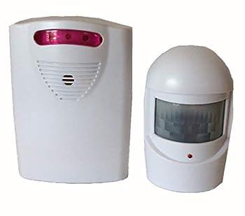 Bunkerhhill Wireless Motion Sensor Driveway Alert System 30 ft 40 Degrees