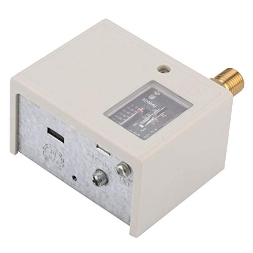 "Interruptor de bomba de compresor de aire, interruptor Spdt G1 / 4 ""Controlador electrónico de presión, 16,5 bar 24 V ~ 380 V para freón, aire, líquido -1 (mín.) ~ 0 (máx.)"
