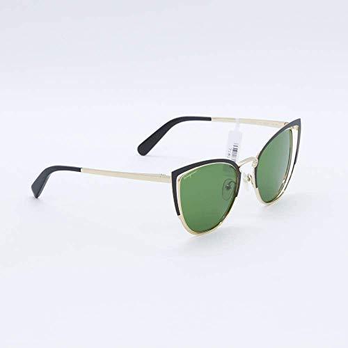 Ferragamo SF183S - Gafas de sol de metal Petrol Unisex Adulto, multicolor, estándar