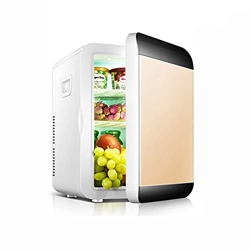 mini refrigerador, pantalla digital con temperatura ajustable, más frío y más cálido, refrigerador portátil silencioso, salida en automóvil, refrigeración de medicamentos Golden,standard