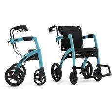 Rollz Motion 2 Small Rollator und Rollstuhl 2in1 island blue
