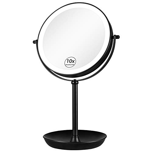 KEDSUM Rechargeable 1X/10X Lighted Magnifying Makeup Mirror, 8' Double...