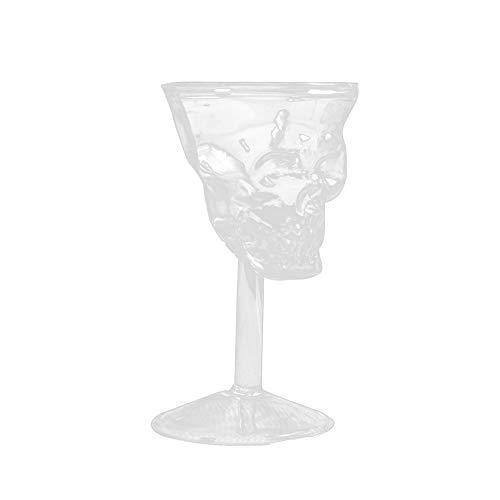 schaaltjes van glas, doodskop, Halloween, wijnbeker, van glas, transparant, schaal van bierglas, Halloween, eenvoudig, rode wijn, platte mond, verhoogt de partysfeer en creëert een sfeer van plezier.