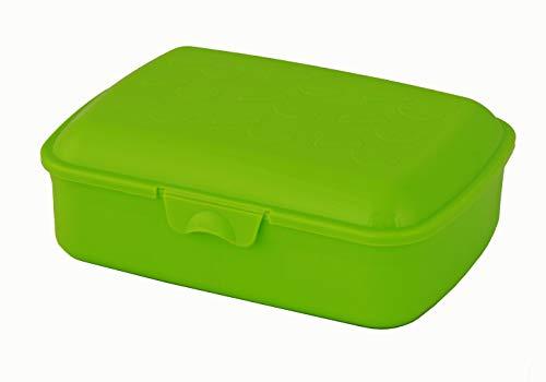 Gies Caja de almacenaje de 20 x 7 cm, sin BPA, reciclable, verde, fabricada en Alemania