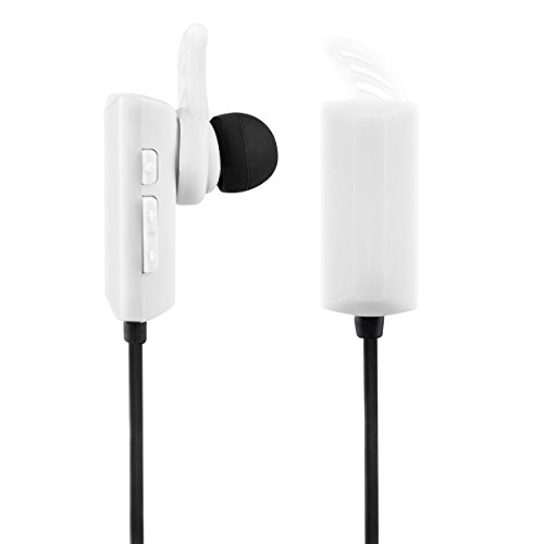 Vivitar VBTE20151-WHT-STP Infinite Bluetooth Earphone, White