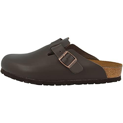 Birkenstock Schuhe Boston Naturleder Schmal Dark Brown (060103) 41 Braun
