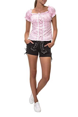 Hailys Damen Trachten Jeans Shorts Lederhose Oktoberfest Wiesn (L, Black)