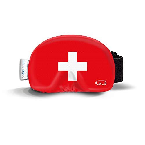 Soggle Skibrillen Schutz Überzug aus Mikrofaser (one Size), Farbe:Native 05 Schweiz