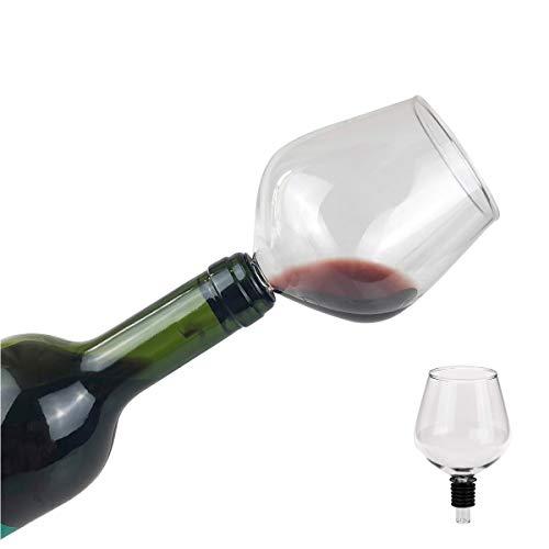 Eflyinglion Bicchieri Vino Rosso-Calici di Vino,Bere Direttamente Dalla Bottiglia ,260ML